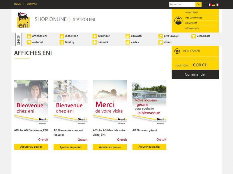 site boutique sur mesure eni shop suisse