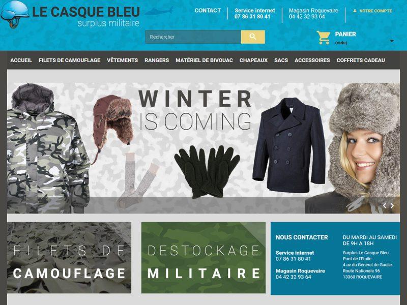 le casque bleu refonte du site sous prestashop