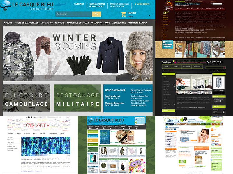 direction graphique de sites e-commerce sous prestashop