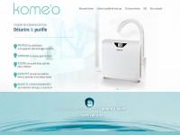 Komeo, site vitrine responsive et parallax